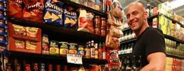 Reparto del supermercato per soli uomini