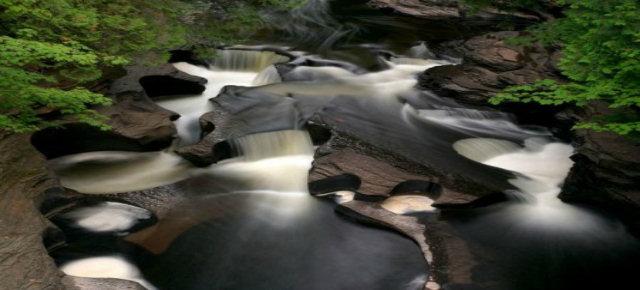 Porcupine Mountains Waterfall, Michigan, USA