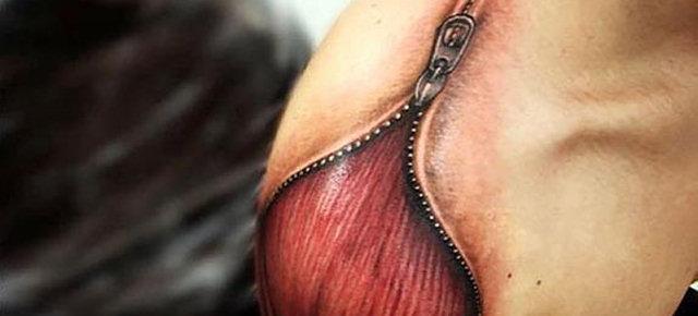 Cinque tatuaggi 3D che illudono