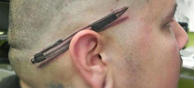 Penna sull'orecchio