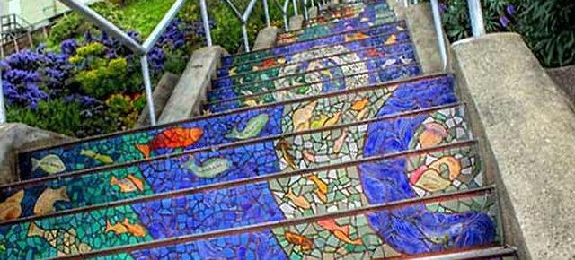 Scale mosaico della 16th Avenue di San Francisco