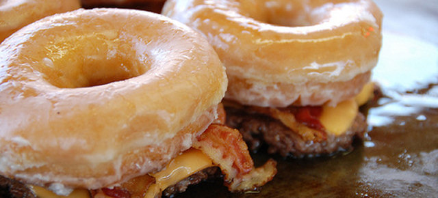 Donut Bacon Cheeseburger