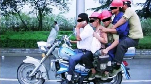 Cinque persone poco attente alla sicurezza