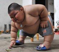 Il bambino più grasso della Cina