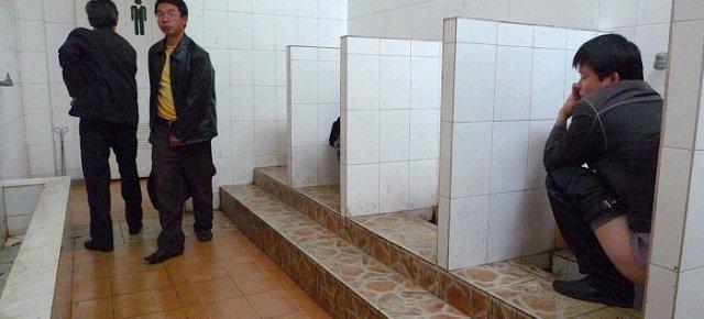 Annusatori di bagni pubblici per lavoro