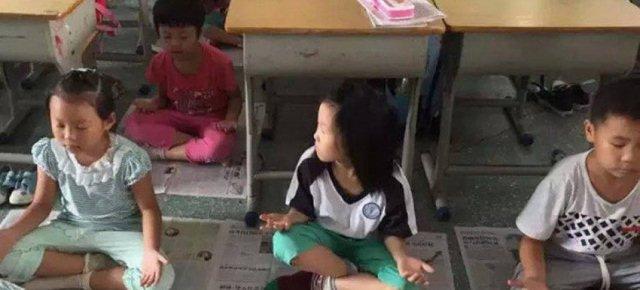 Sedute di meditazione negli asili cinesi
