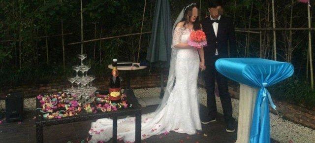 Coppia celebra il matrimonio di separazione