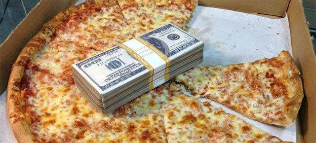 La pizza è più motivante del denaro, una ricerca lo dimostra