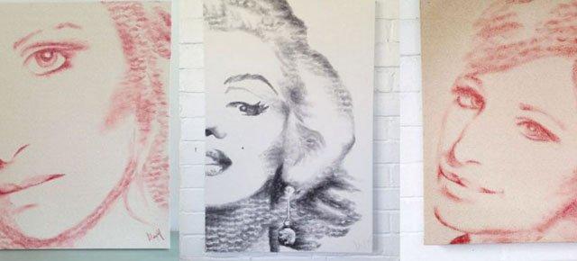Gli incredibili dipinti fatti di... baci