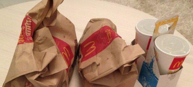Busta di soldi anzichè il menù McDonald's