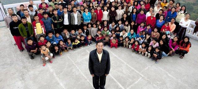 L'uomo con 39 mogli, 94 figli e 33 nipoti