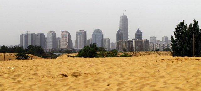 Il lago artificiale è diventato un deserto