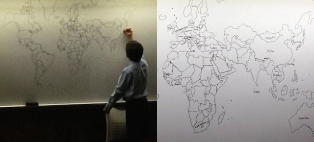 Bambino autistico disegna il mondo a memoria