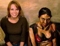 Persone trasformate in dipinti