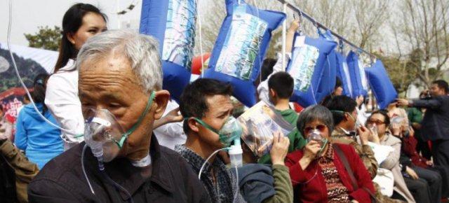 In Cina i distributori di aria pulita