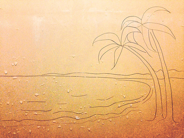 Opere d'arte con i capelli persi nella doccia 3