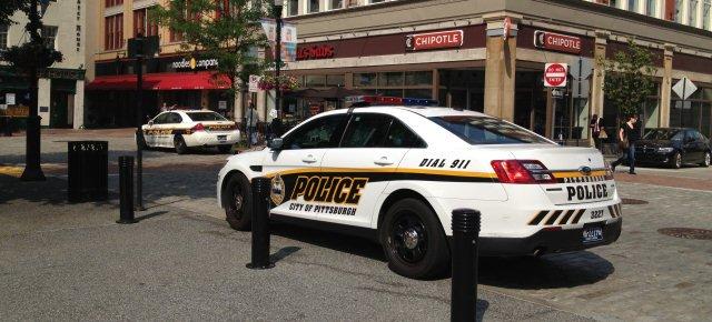 Ragazza tenta di rubare un'auto della polizia