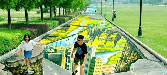 Un'opera di street art da record