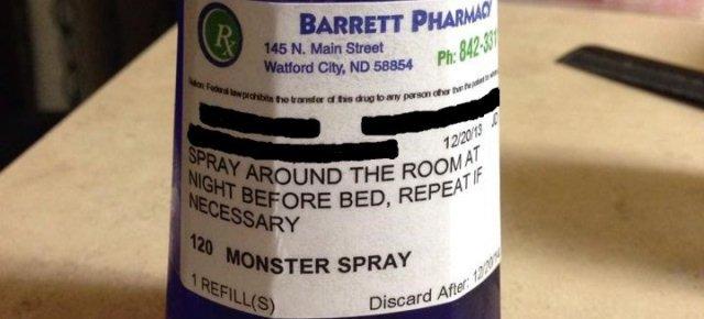Arriva lo spray contro i mostri
