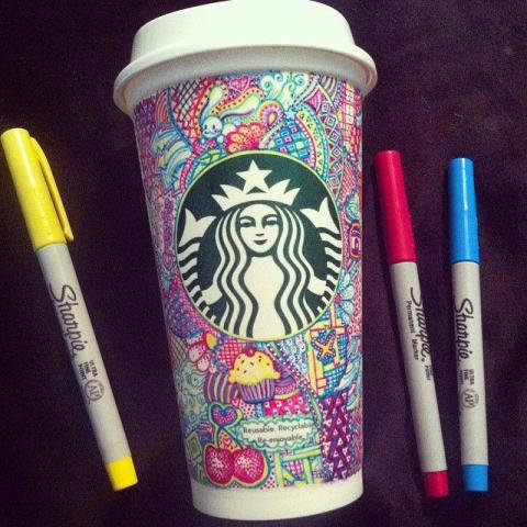 Rende bicchieri di Starbucks dei capolavori 3