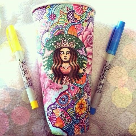 Rende bicchieri di Starbucks dei capolavori 4