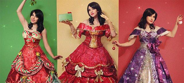 Artista crea abiti da sogno con la carta da regalo usata