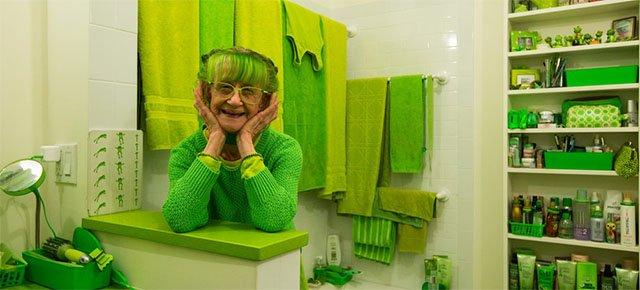Da 20 anni si veste solo di verde