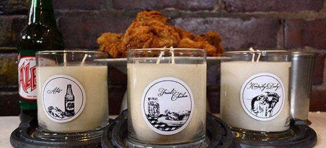 La candela che profuma di pollo fritto