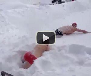 Nuotare sulla neve