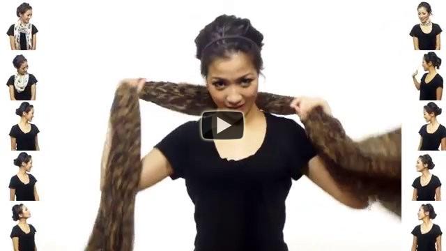 Una ragazza mostra 25 modi sorprendenti per indossare una sciarpa