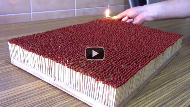 Ecco cosa succede se si accendono 6000 fiammiferi tutti insieme