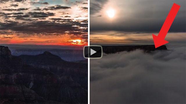 Un fenomeno affascinante e rarissimo sul Grand Canyon: eccolo!