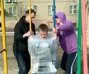 Allenamento per il programma spaziale russo