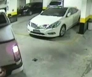 Automobilista crea il suo parcheggio
