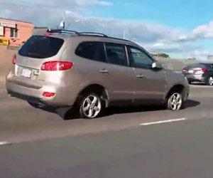 Guidare in autostrada senza gomme