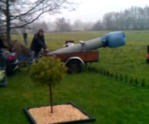 Cannone fatto in casa, fail