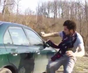 Come non rompere il vetro di un'auto