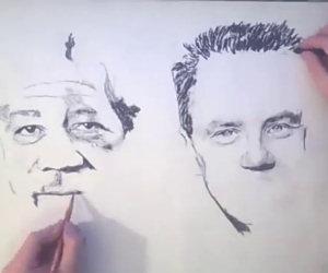 Disegnare con due mani
