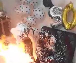 Festa di compleanno finisce in fiamme