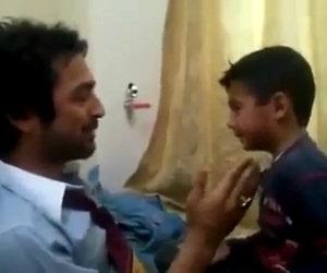 Gara di sberle tra padre e figlio