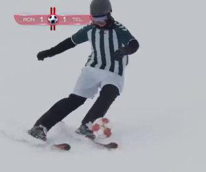 Questo incredibile gruppo di ragazzi gioca a calcio mentre scia