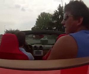 Incidente con la Ferrari in prova