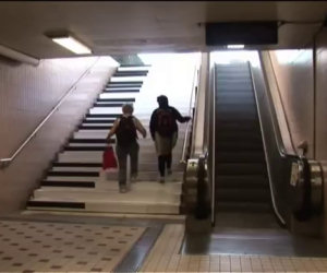 Le scale a forma di pianoforte