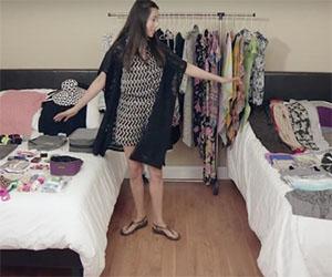 Ecco come riporre oltre 100 vestiti in un solo zaino