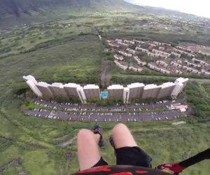 Paracadutismo attraverso una fessura