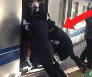 Prendere il treno in Giappone? Ecco che succede se il vagone è pieno
