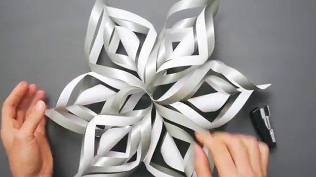 Fiocchi Di Neve Di Carta Tutorial : Come trasformare un foglio di carta in un fiocco di neve 3d video