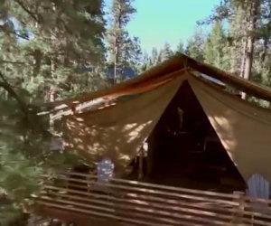 Sembra un normale campeggio ma entrando nella tenda resterai di sasso