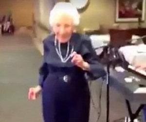 Questa signora balla come se fosse una ventenne, che energia!