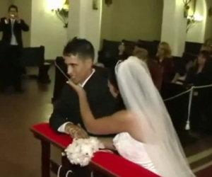 Sposo vomita sull'altare